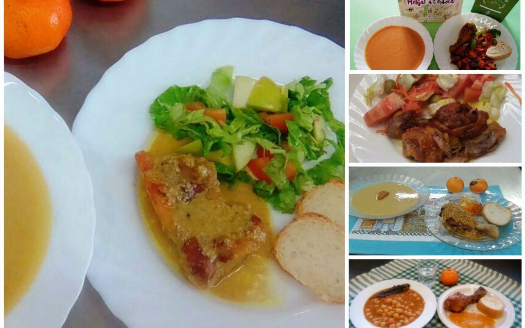 Pollastre amb salsa de moniatos i pipes, un plat del Cuinem Salut