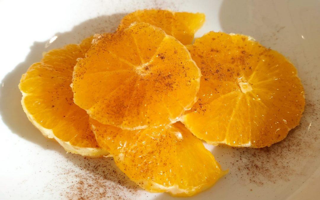 Tastet de taronja, canyella i mel